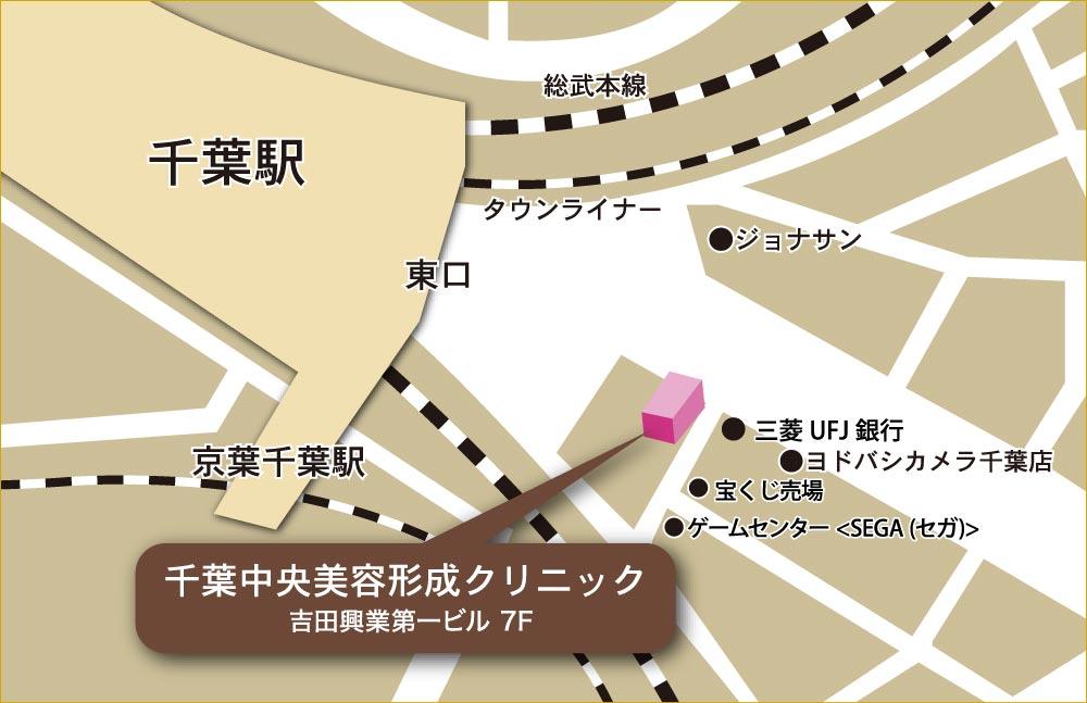 千葉中央クリニック アクセスマップ